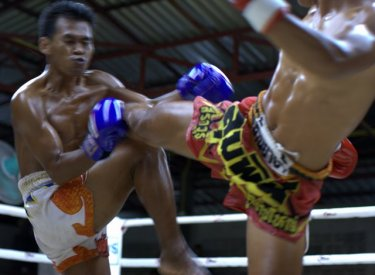 Combat in the ring brings speedy moves that are difficult to see or to capture with a camera.