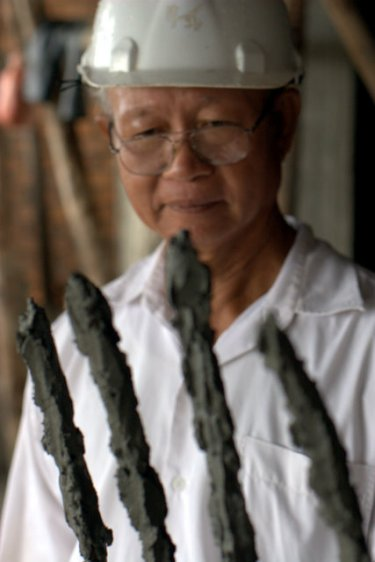 Ajarn Prasit: He lives and works on a mountain top
