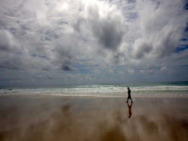 Open spaces, freedom. Alone on Karon beach . . . for now