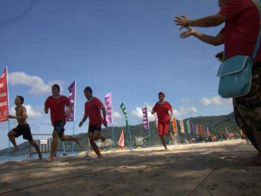 A beach run for youngsters at the first carnival