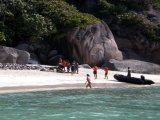 Similans Tourists See Boat People Mistreated