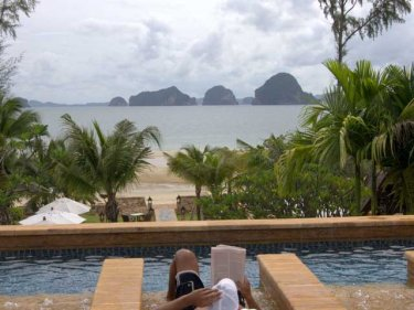 The fantastic view from Krabi: but jobs may go this low season