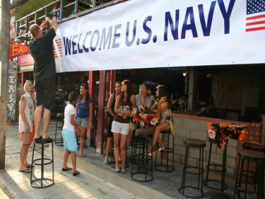Patong gets set for the US Navy on Thursday night