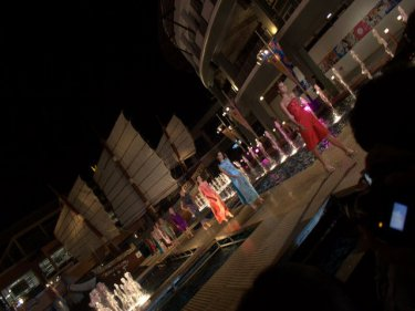 The stunning Patong catwalk . . . but the arena lacks intimacy