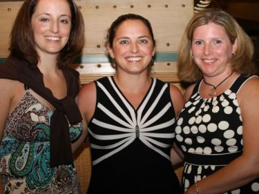 Beth Shaw (centre) with Lauren Giordano and Cindy Ryan on Phuket