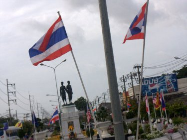 The Heroines Monument roundabout marks the heart of Phuket