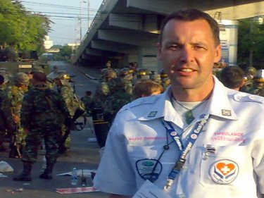 Marko Cunningham amid April's street rebellion in Bangkok