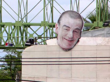 The vanishing chef on a Phuket billboard: now, sadly, Keith Floyd is gone