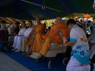 Luang Pu Supha at the chaofa-raising ceremony last year on Phuket