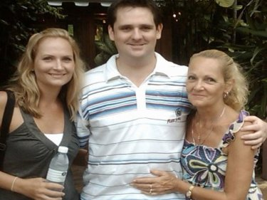 Kimberley Richards with brother Ben and mother Jan