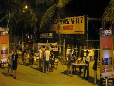 The beach party at Patong warms up last night and will be on again tonight