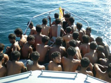 Arrested Rohingya in the care of Marine Police, 2008-2009