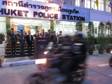 Phuket City police prepare for a motorcycle helmet crackdown from July 1