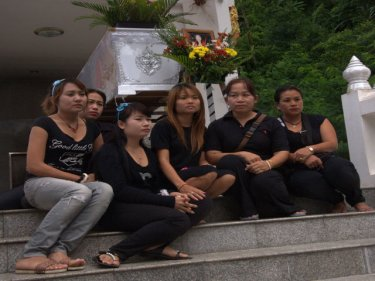Colleagues from Sweethearts Bar at Khun Wanpen's funeral this week