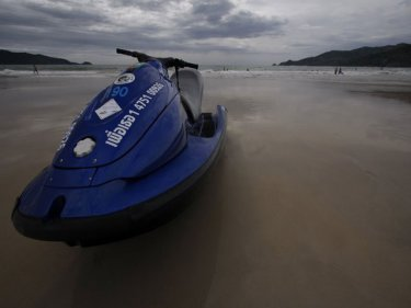A jet-ski on Phuket's Patong beach: from villains to heroes