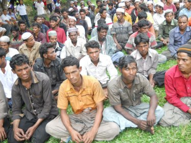 Rohingya boatpeople under arrest in Thailand's Trang province today