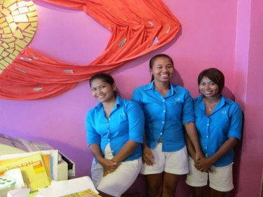 All the fun of the food: The staff at Phuket's Gitano join in