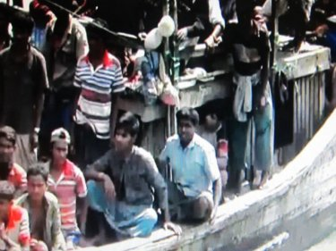Rohingya on the boat that landed in Satun, south of Phuket