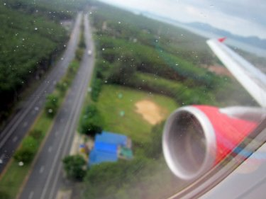 Coming in to land at Phuket International: the bomb suspects flew from KL