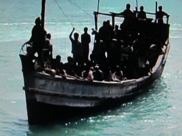 The kind of vessel that the Rohingya use to make their voyages