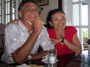 Dr Gerald Goeden with Carmel Brookes on a visit to Penang in 2009