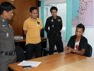 Confessed rapist Theerasak Bootcha tells Patong police what happened