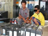 Phuket Mobile Telephone Owners Rejoice: Tower Battery Thieves Nabbed
