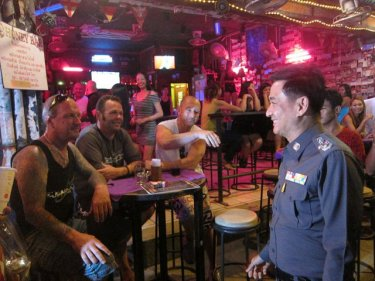 Walk on the wild side: Thailand's top cop strolls Patong's Soi Bangla