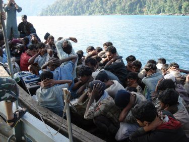 A boatload of Rohingya arrested off Thailand in 2008