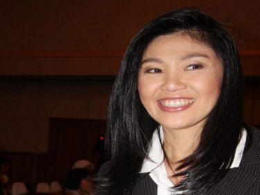 Prime Minister Yingluck Shinawatra on an earlier visit to Phuket