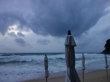 A storm is brewing over Phuket's Surin beach - and Patong and Bang Tao too
