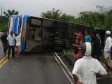 Eight Injured as Bus Misses Curve North of Phuket