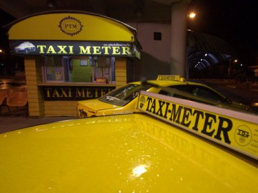 Metered taxis are easily distinguished from other Phuket taxis