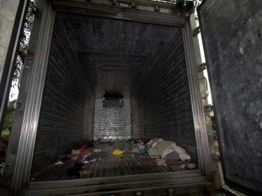 The void inside the death truck where 121 people were crammed