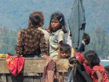 Children on the Rohingya boat apprehended off Phuket on January 1