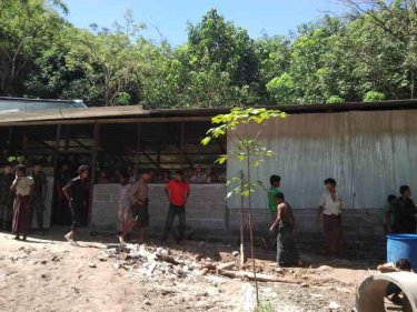 One of the camps for captive Rohingya exposed in a series of ''rescue'' raids