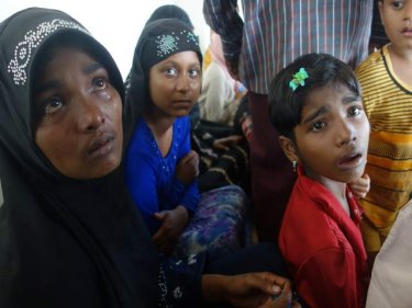 Real tears: Rohingya from a boat that landed on Wednesday north of Phuket