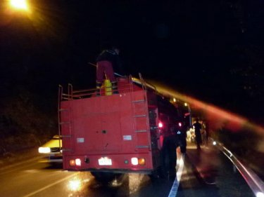 The Cherng Talay fire truck fights the Kamala fire last night