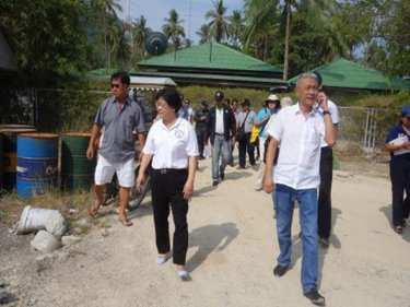 The investigation party begins its tour of Racha island off Phuket today
