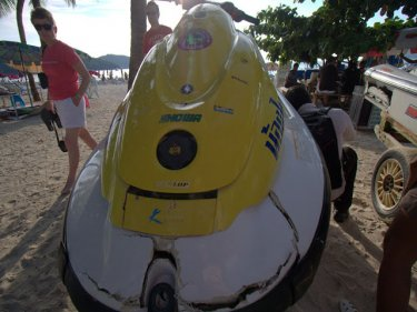 A Patong jet-ski damaged in 2011 that operators wanted 180,000 baht to fix