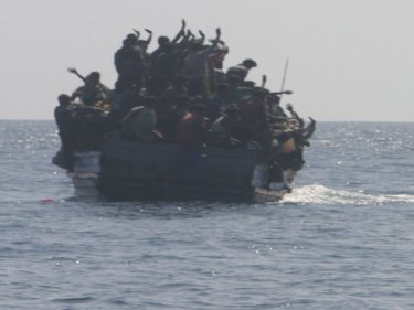 Navy sailors allegedly fired shots in an incident with a Rohingya boat