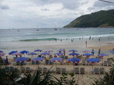 Nai Harn beach on Phuket, scene of the citizens' arrest today