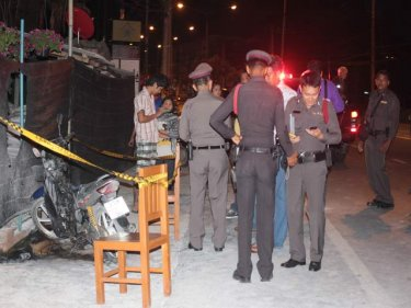 The first motorcycle, burned at 3.30am on Phuket today