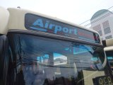 Airport Buses Roll  in Wrong Direction