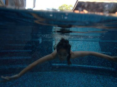 Erotic pictures of skinny dipping can