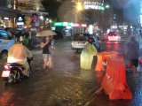 Phuket Dousing Floods Patong and Tesco Intersection,  Stops Football