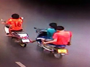 A security camera image helped Phuket  police arrest three teens