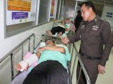 Motorcyclist Crashes Into Phuket Policeman on Point Duty
