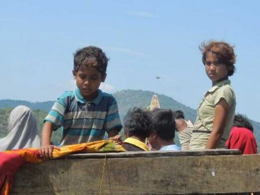 Children who arrived on a Rohingya boat off Phuket on January 1