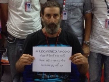 Domenico Amodio, 48, from an Immigration photo on Phuket
